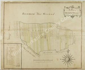 Historic plan of land at Richmond